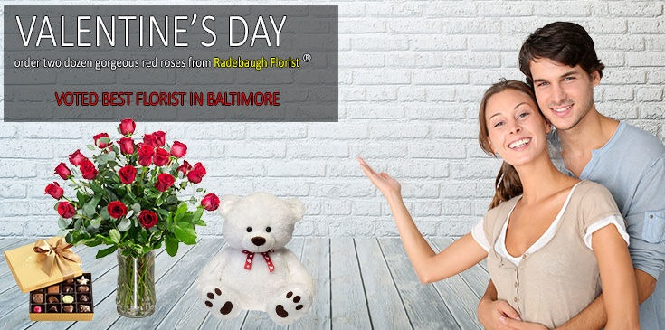 Shop Radebaugh Florist for the best selection of beautiful Valentines Flowers, Roses, Plants and Gifts in Baltimore.