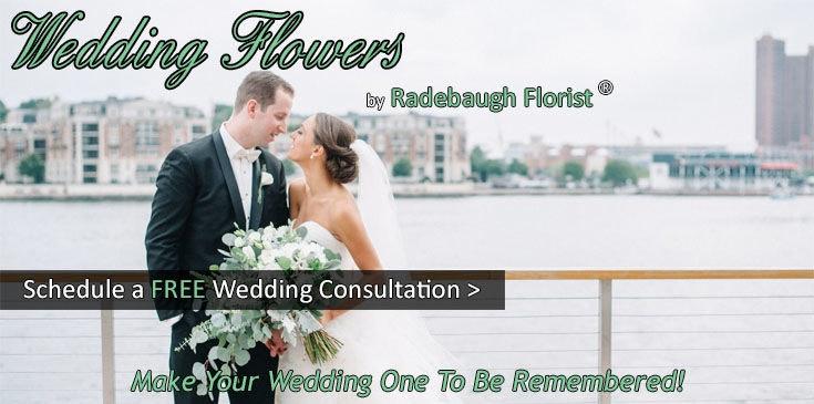 Radebaugh Florist creates stunning wedding flowers, bridal bouquets, ceremony flowers and reception flowers.