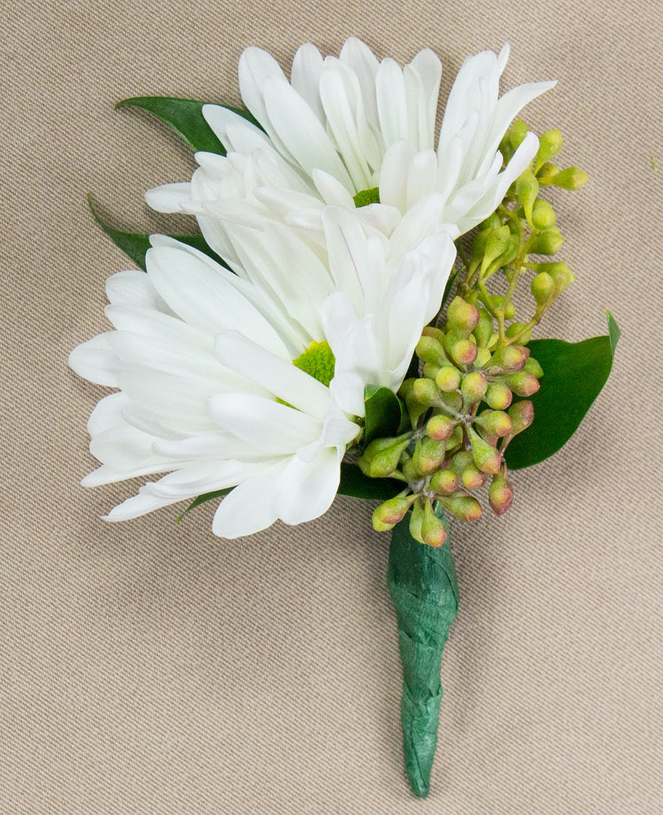 White Daisy Boutonniere Radebaugh Florist And Greenhouses Towson