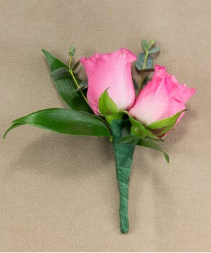 Pink Sweetheart Rose Boutonniere
