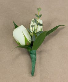 White Sweetheart Rose Boutonniere
