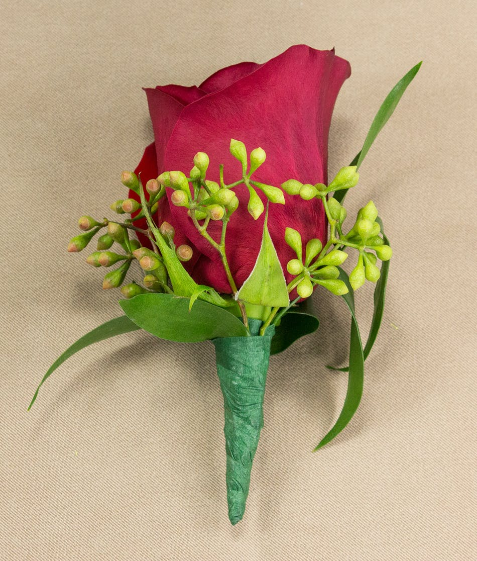 Red rose boutonniere prom flowers radebaugh florist and red rose boutonniere izmirmasajfo