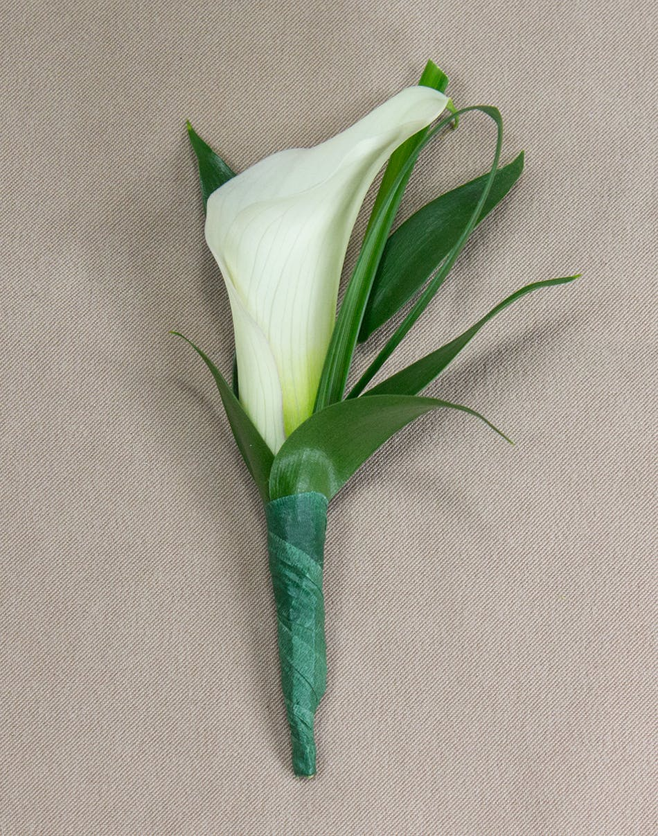 Calla Lily Boutonniere Prom Flowers Radebaugh Florist And