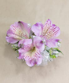 Purple Alstroemeria Wristlet