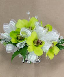 Green Dendrobium Orchid Wristlet