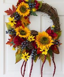 Sunny Summer Silk Wreath