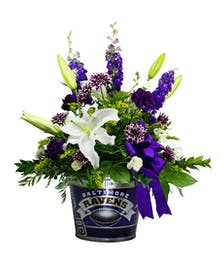 Ravens Game Day Party Pail Bouquet