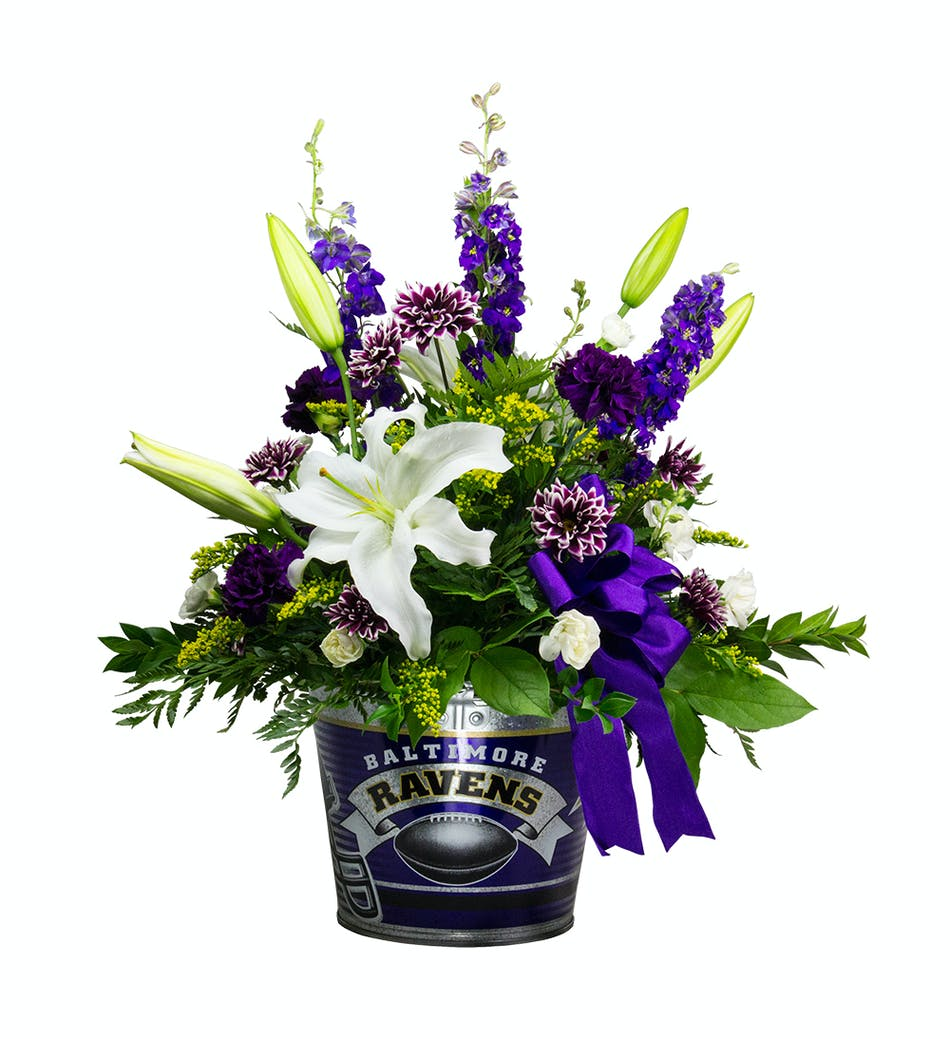 Ravens Game Day Party Pail Sports Arrangements Baltimore Flower