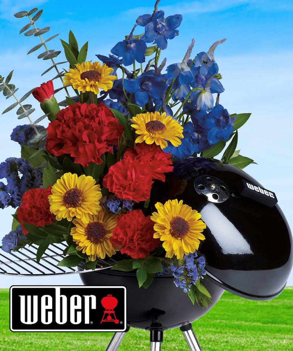 Weber hot off the grill summer flowers radebaugh florist and weber hot off the grill bouquet izmirmasajfo