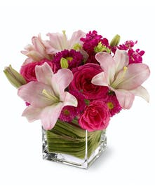 Send a posh pink bouquet and impress today