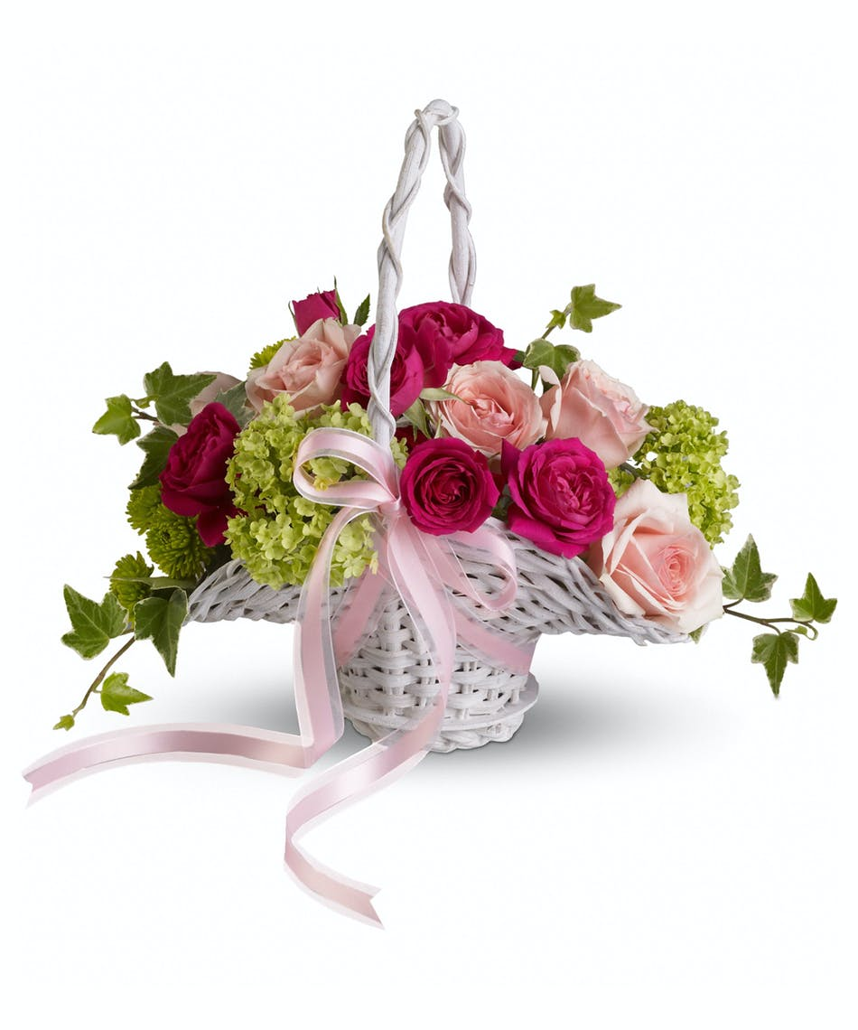 Flower Girls Dream Basket This Perfect Little Basket Of Pink