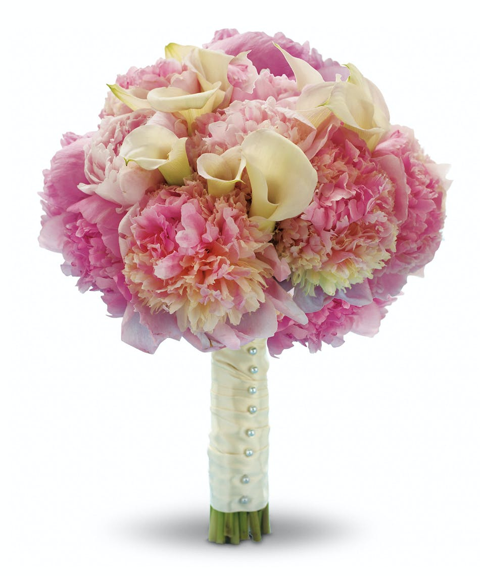 My pink heaven bouquet stand out from the crowd with this heavenly my pink heaven bouquet stand out from the crowd with this heavenly high fashion bouquet of lush pink peonies and mini white callas izmirmasajfo Images